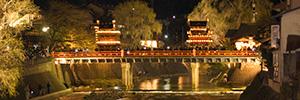 中橋と祭屋台